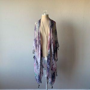 Multi Colored Kimono Cover Up